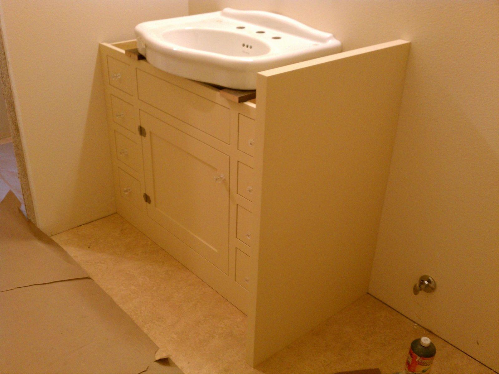 Vanity For Pedestal Sink