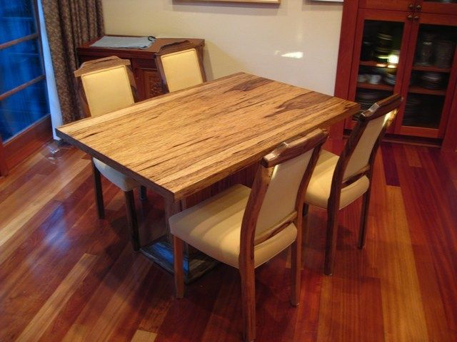 Custom Black Limba Table Amp Chairs By Sheridan Woodworking