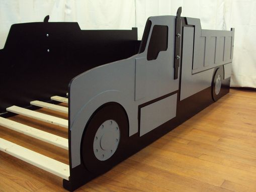 custom dump truck twin kids bed frame