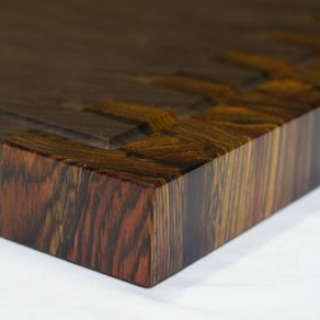 Custom Cocobolo Furniture  Custom Made Cocobolo and Custom Cocobolo     Walnut And Cocobolo End Grain Cutting Board  Handmade And Reversible by  Mark Ekis