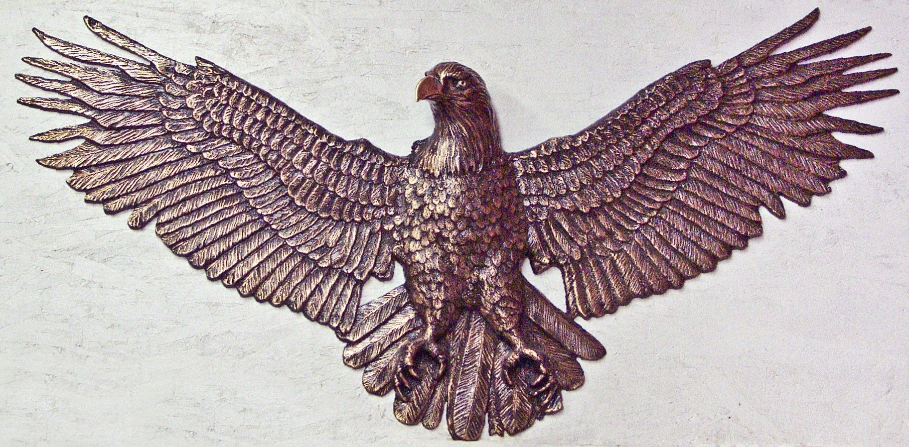 Custom Bronze Eagle In Relief Wall Mount 4 Feet Wide By