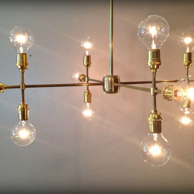 Handmade Modern Contemporary Light Sculpture Multiple Edison Bulb Chandelier Lamp By Retro Steam Works Custommade