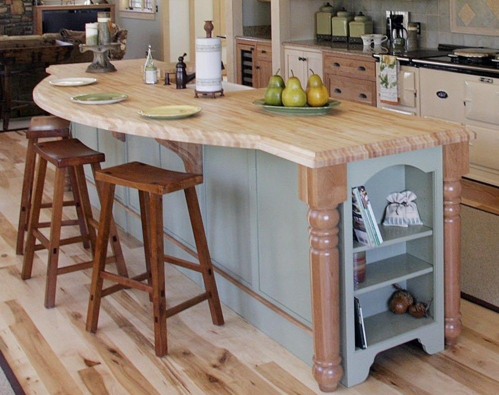 Hand Crafted Hard Maple Island Top By Awp Butcher Block