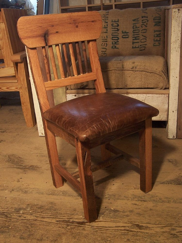 Buy Hand Made Reclaimed Oak Mission Style Dining Chairs