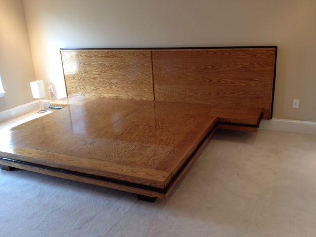 Custom White Oak Platform Bed By Bungalow White Oak