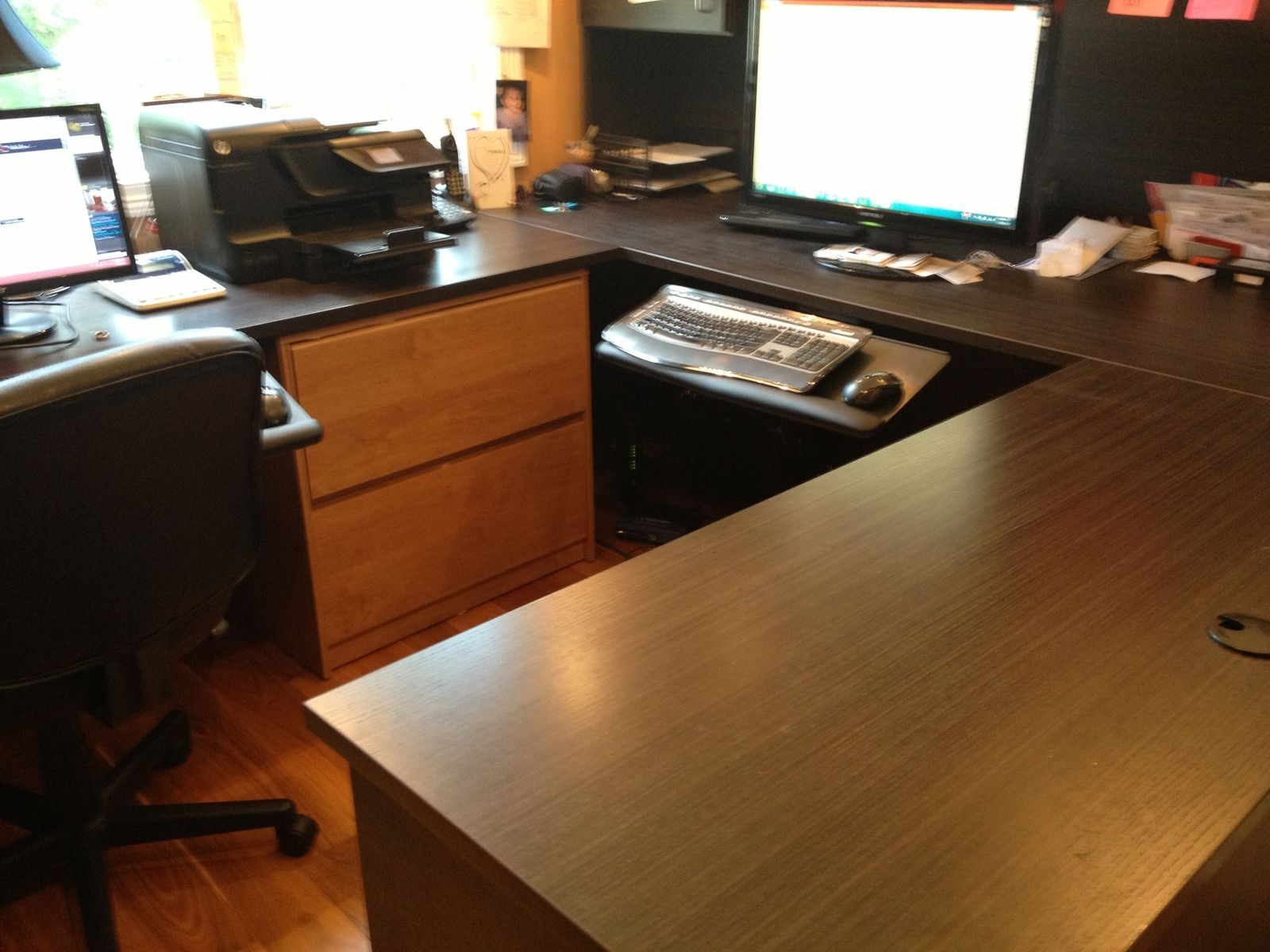 Custom Melamine U Shaped Desk By Peabody Enterprises Inc