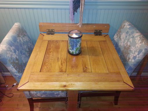 Custom Oak Drop Down Dining Table By Emerald City Crafts
