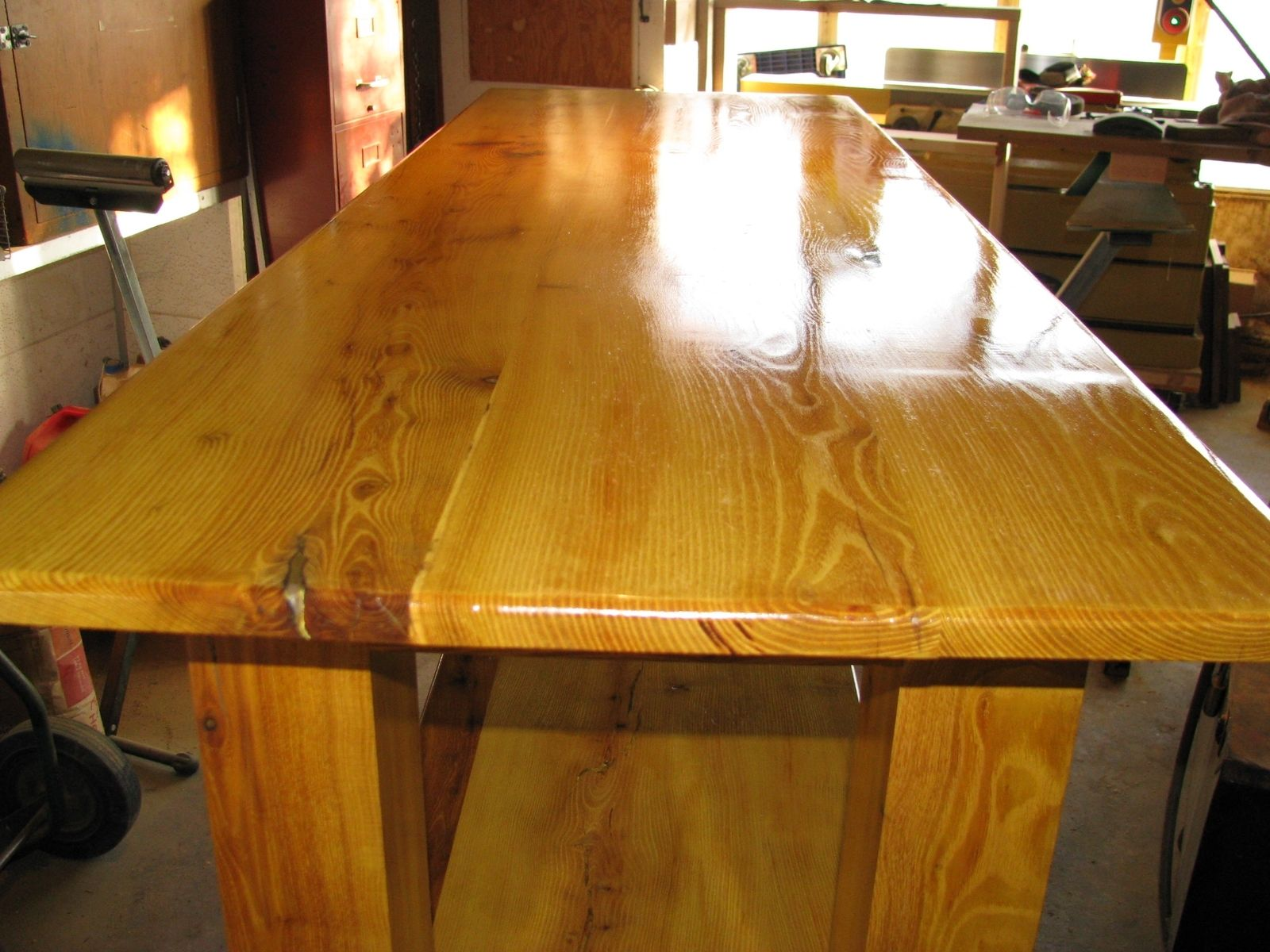 Hand Crafted Orange Table By MDMCO