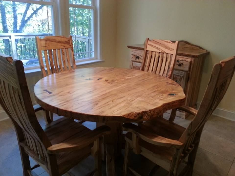 Hand Made Round Ambrosia Maple Dining Table By Haymore