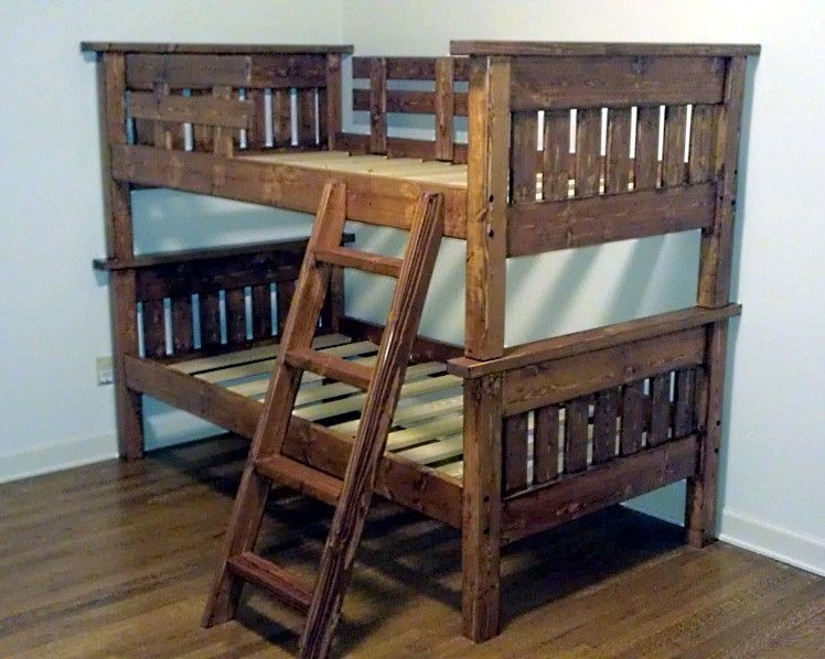 Hand Made Mission Style Twin Bunk Bed By Ambassador