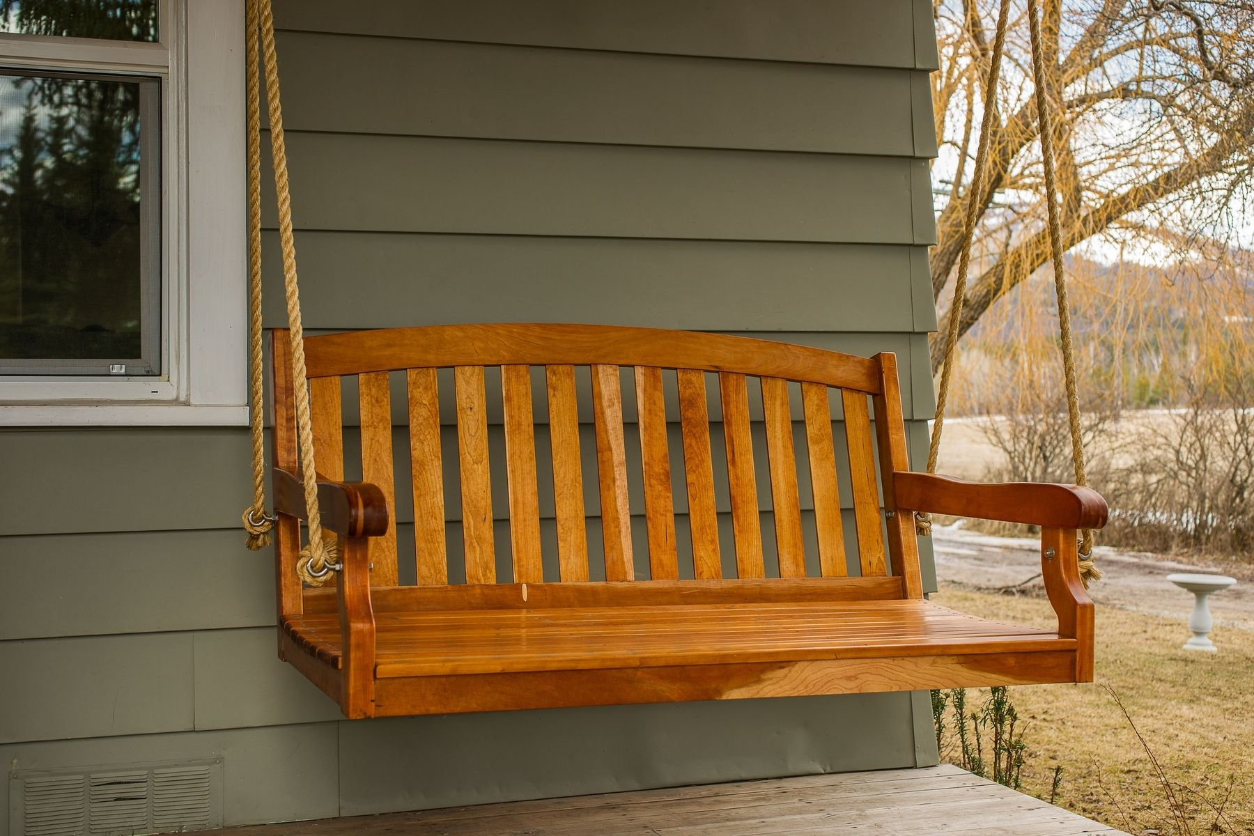 Hand Made Porch Swing By Old North Designs