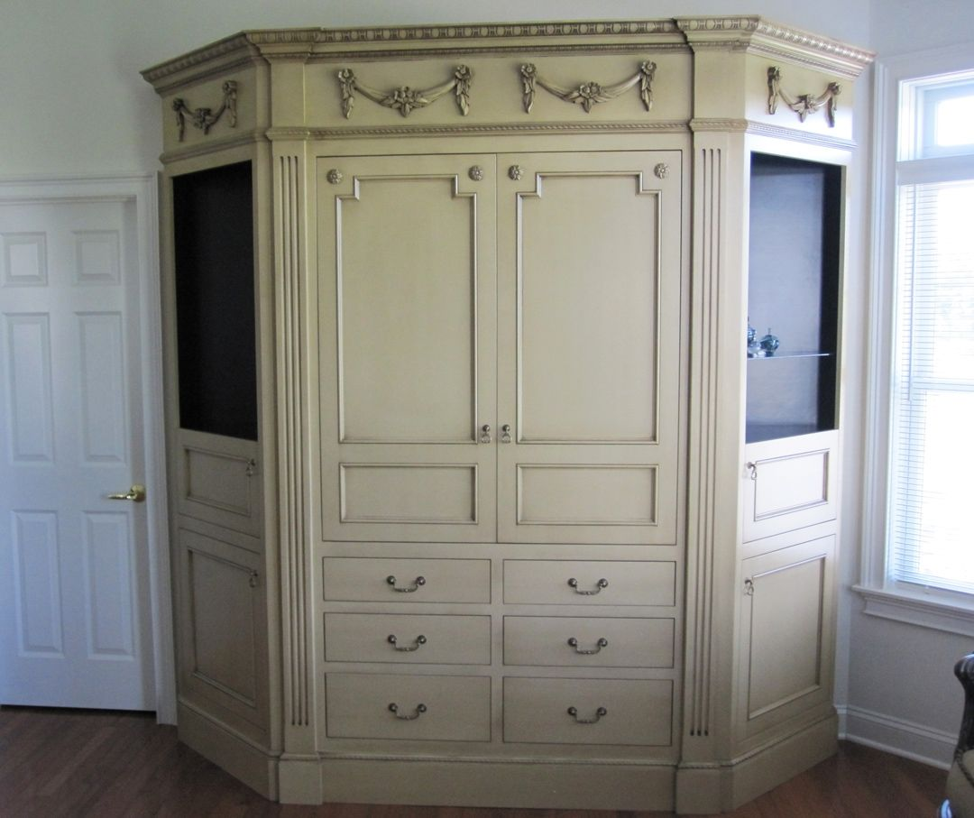 Custom Made Wall Unit Entertainment Center Cabinet By