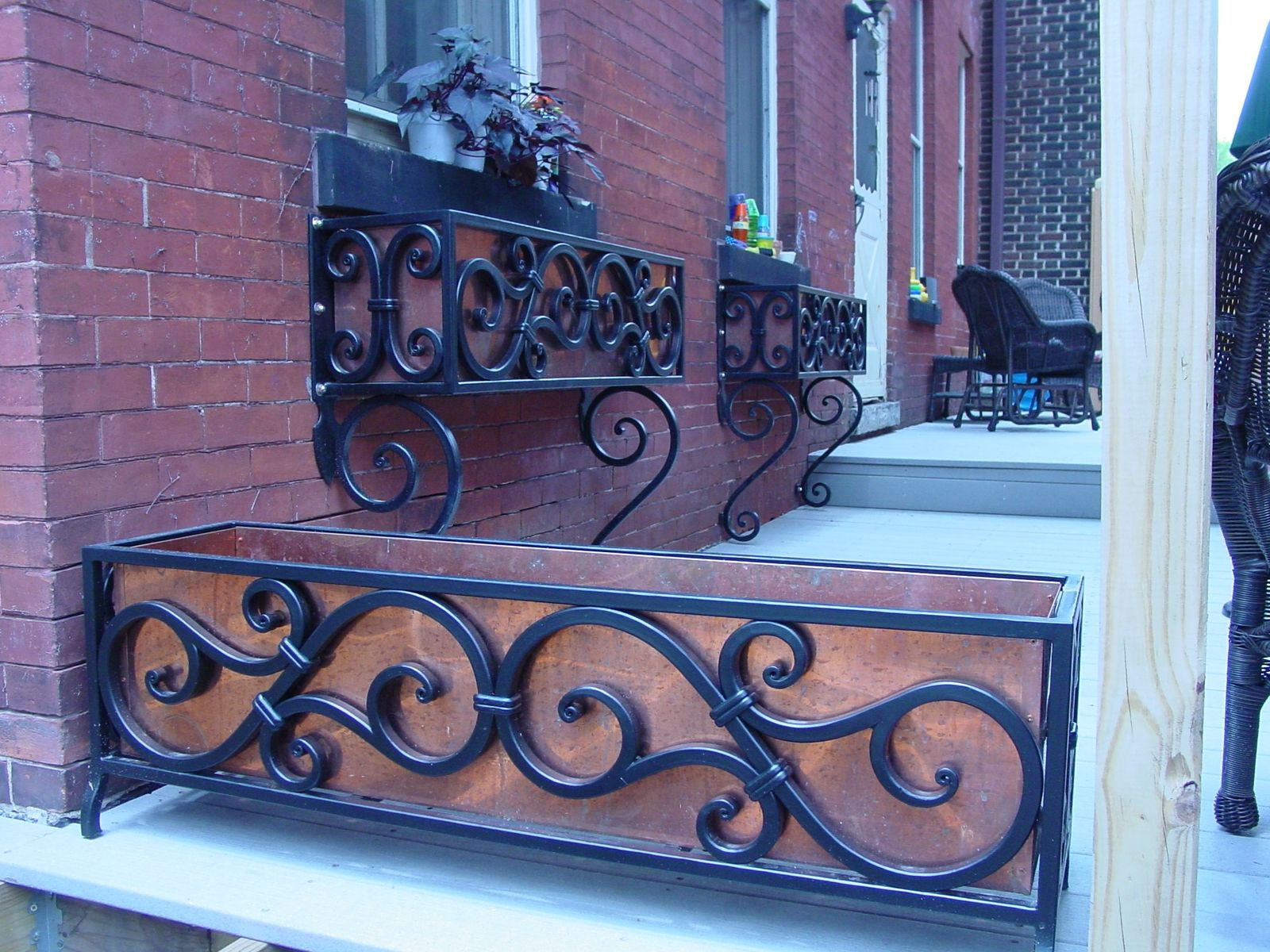 Hand Made Wrought Iron Flower Box By Arc Iron Creations