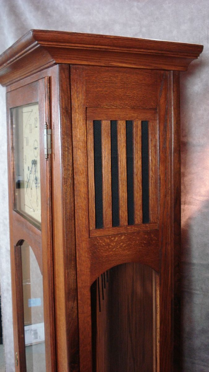 Hand Crafted Mission Style Grandfather Clock By Dwf