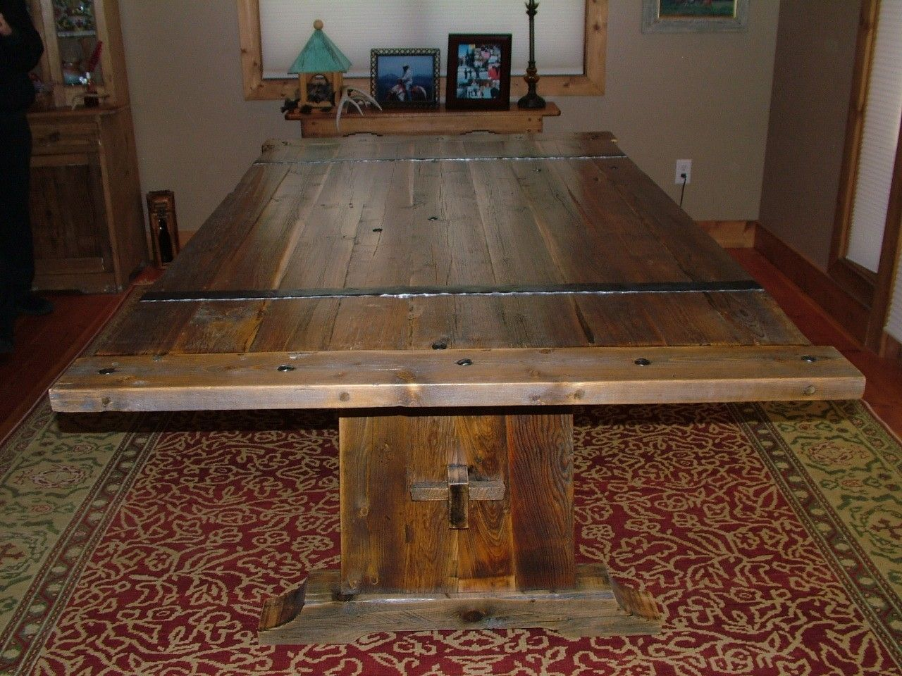 Hand Crafted Barnwood Dining Table By Bluebuck Woodworking