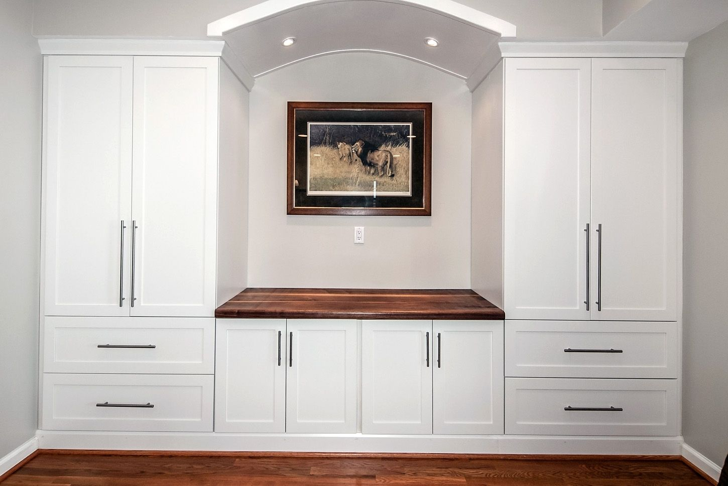 Custom Built-In Counter Top & Wall Unit By Design By Jeff