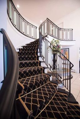 Hand Made Contemporary Wrought Iron Interior Railing With