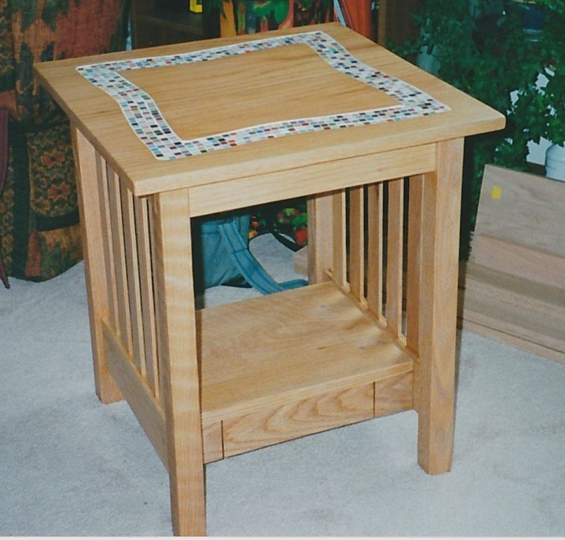 hand crafted tile top coffee table and