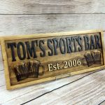 Buy A Hand Crafted Home Bar Sign Man Cave Custom Wood Sign