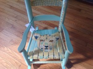 Custom Small Lion Cub Rocking Chair By Charming Children S
