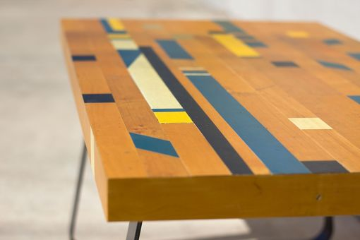 Custom Reclaimed Gym Floor Coffee Table By Deep Fried