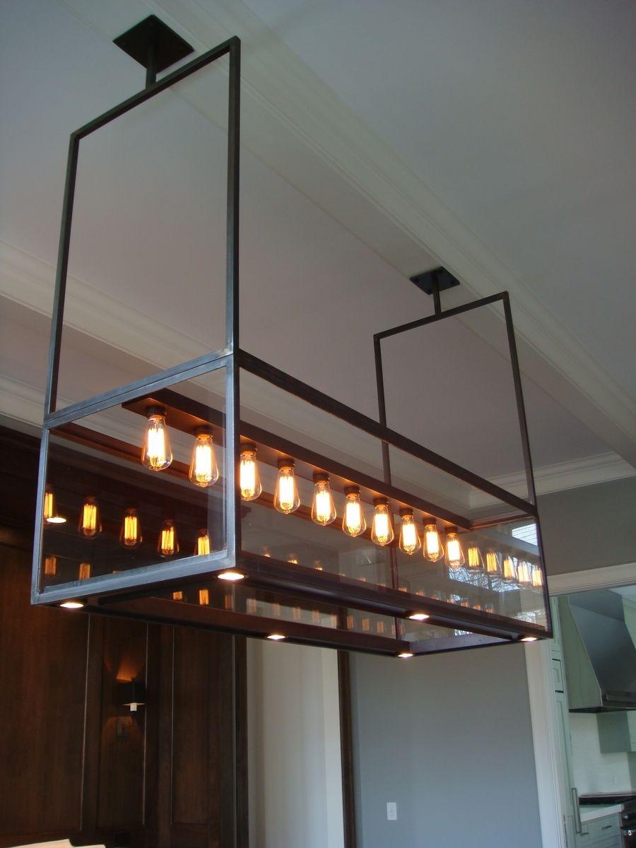 Hand Made Lighting Modern Custom Steel Amp Glass