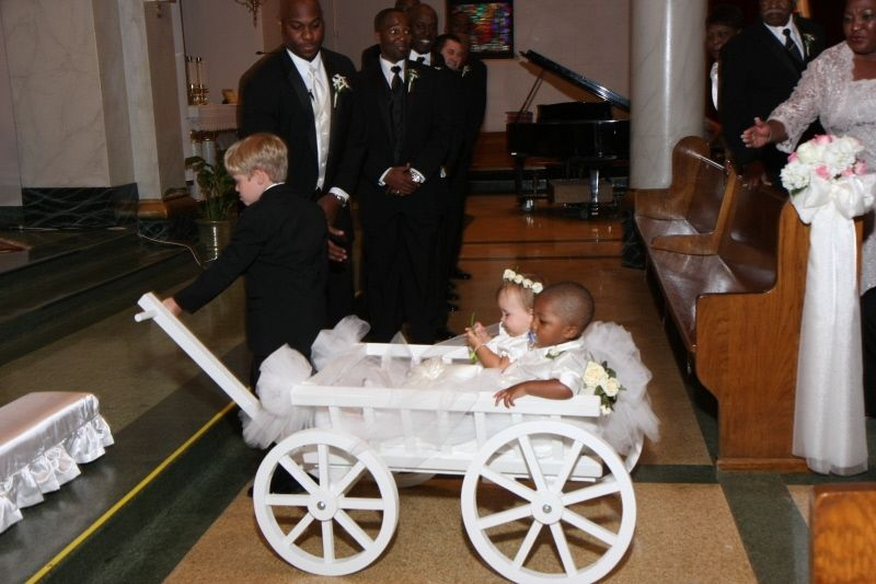 Buy A Hand Crafted Large Flower Girl Pumpkin Wagon Made