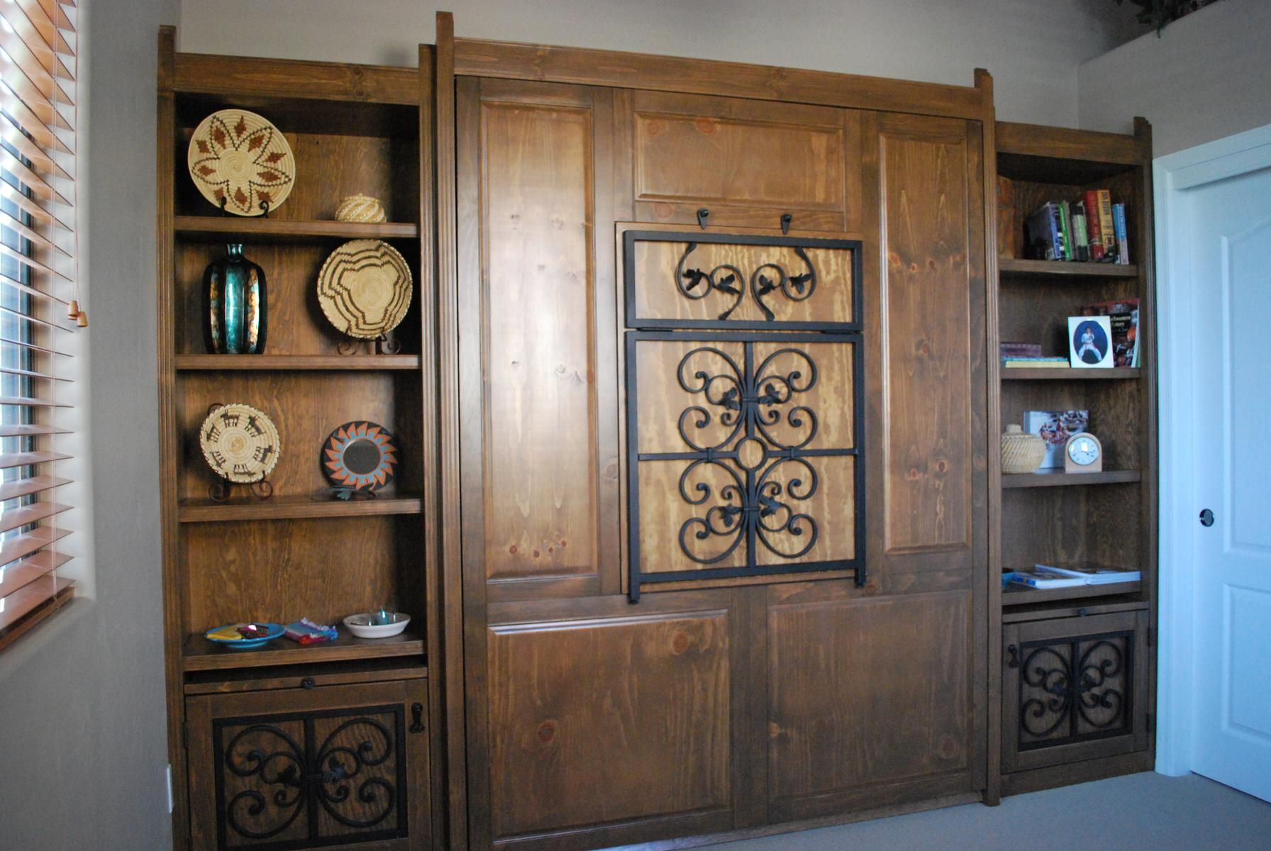 Hand Made Southwestern Murphy Bed By Ck Valenti Designs