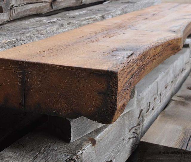 Custom Made Rustic Fireplace Mantel Shelf Cut Oak Tree Like Face