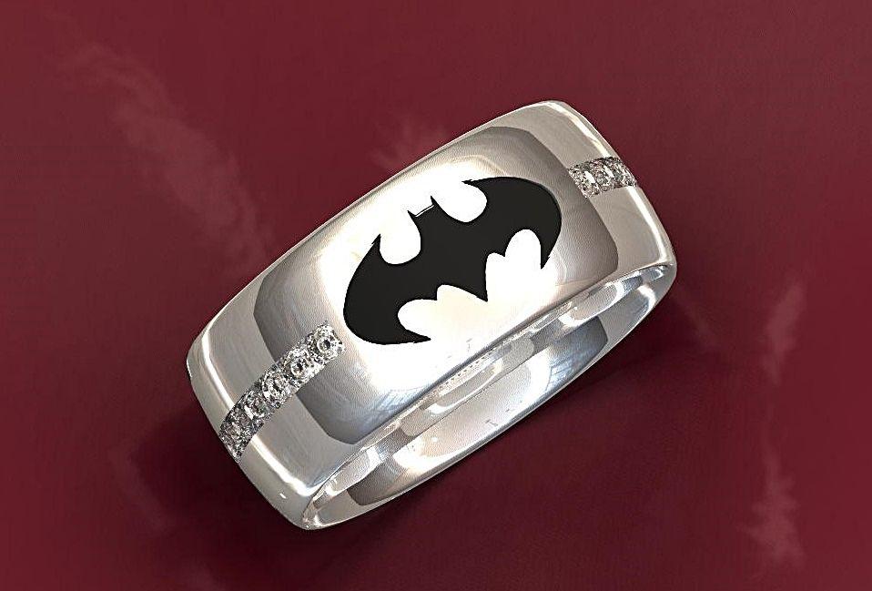 Handmade Batman Wedding Ring By Valeria Fine Jewelry