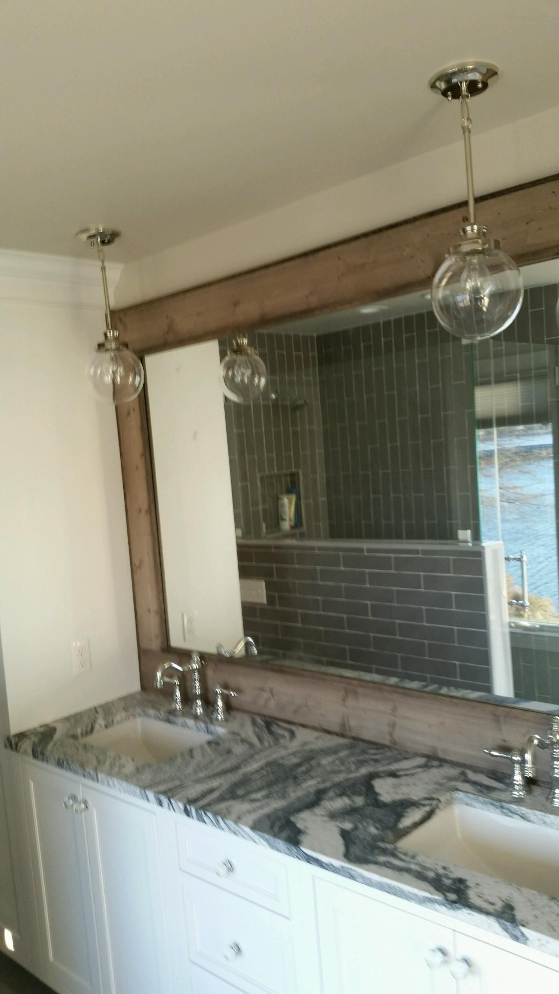 hand crafted large vanity mirror