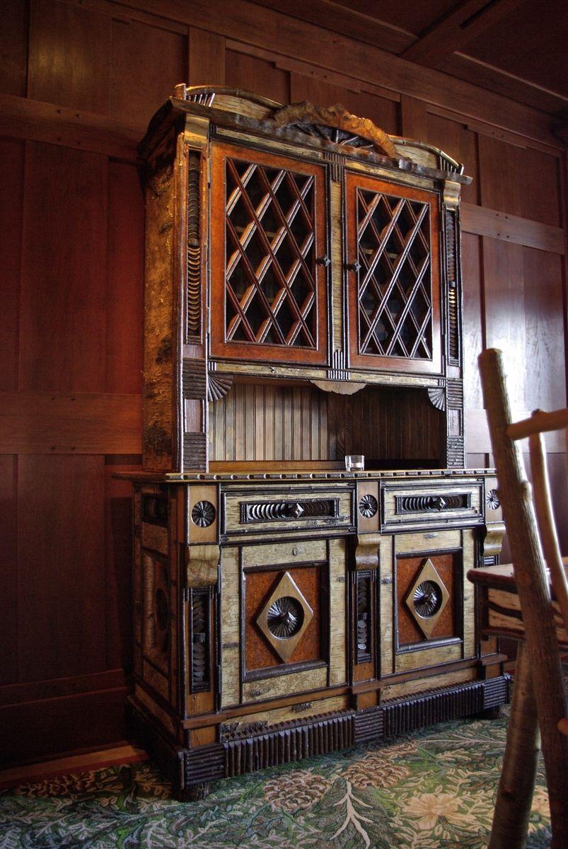 Custom Made Adirondack Rustic Cabinet By L Post Rustics