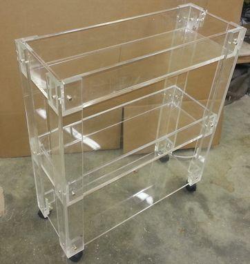 Custom LuciteAcrylic Bar Cart Drink Cart Hand Crafted