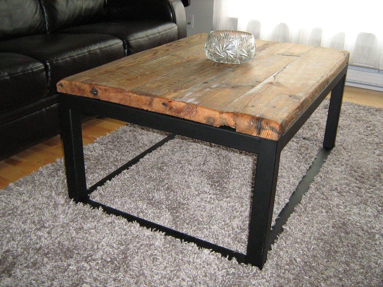 Custom Wood And Iron Coffee Table By Baywood Custom