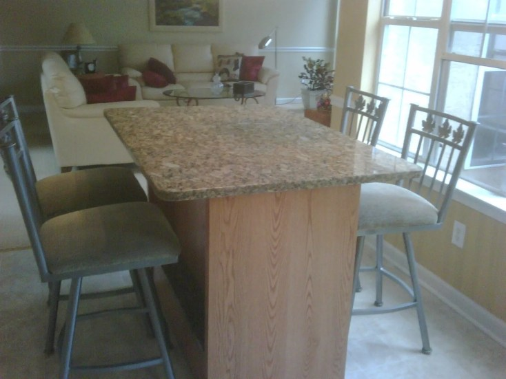 buy a custom made kitchen table- oak and granite, made to order from