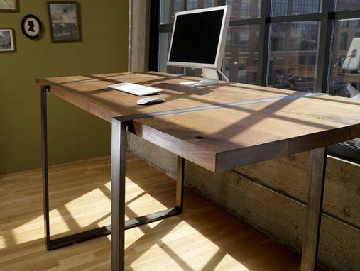 Buy A Handmade Walnut And Steel Standing Work Desk Made