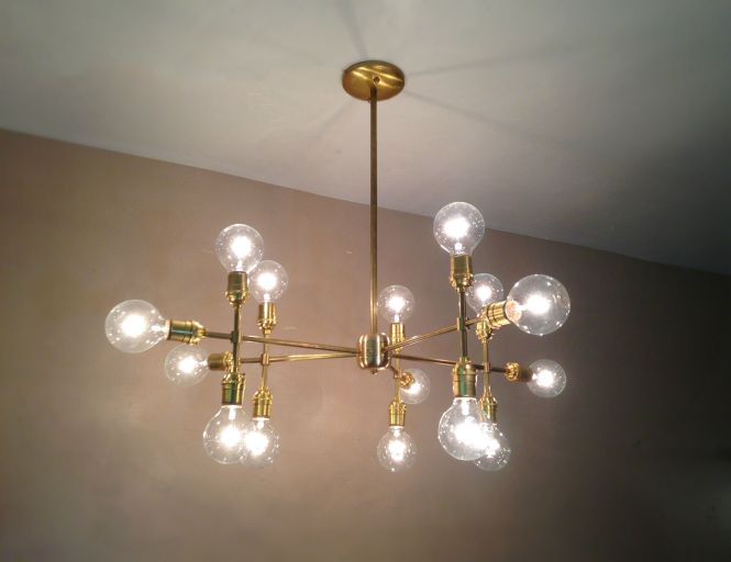 Modern Contemporary Light Piano Multiple Edison Bulb Chandelier Lamp By Jay Lana