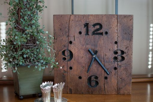 Hand Made Rustic Reclaimed Wood Clock By The Green Gift