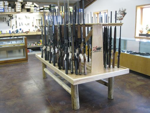 Hand Made Custom Made Commercial Gun Display Rack By Lees Country Woods