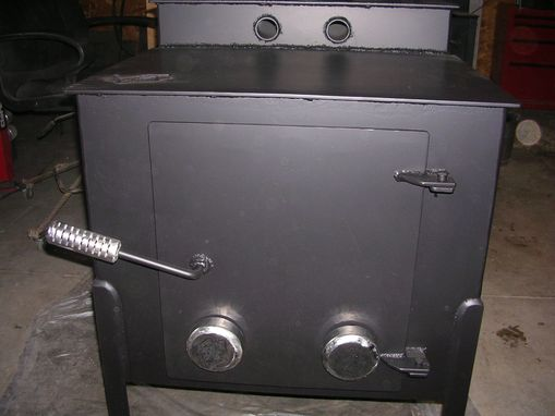 Custom Made Wood Stove By Crossroads Concrete