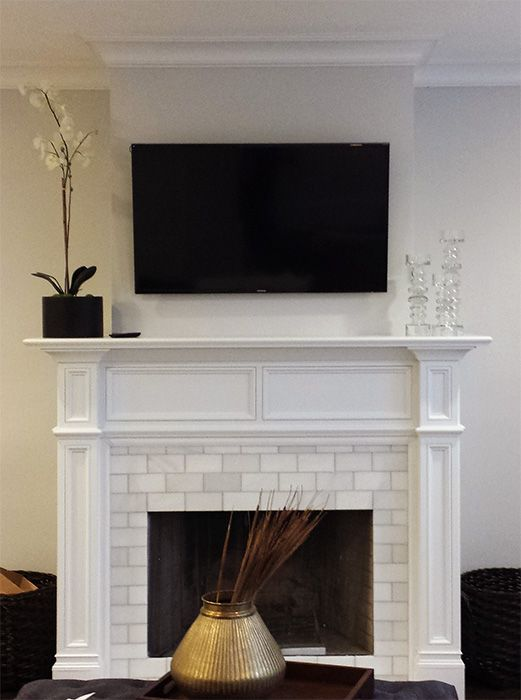 Handmade Modern Fresno Fireplace Wood Mantel By Accolade Fireplace Mantels