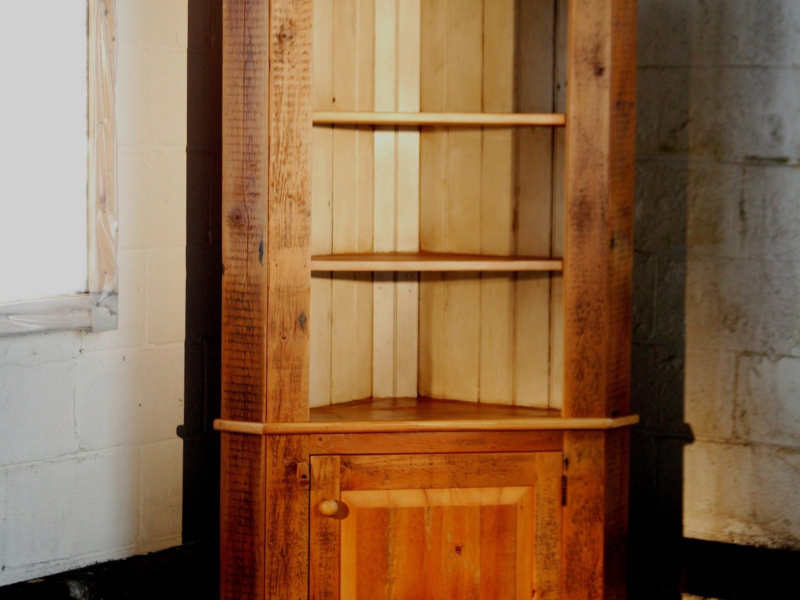 Custom Corner Cabinet With Open Top By ECustomFinishes