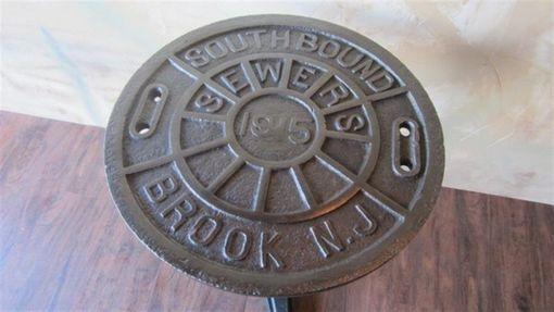 Custom Bistro Manhole Cover Table By Wild Edge Designs