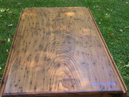 Custom Made Wormy Chestnut Drop Leaf Table By Short Mtn