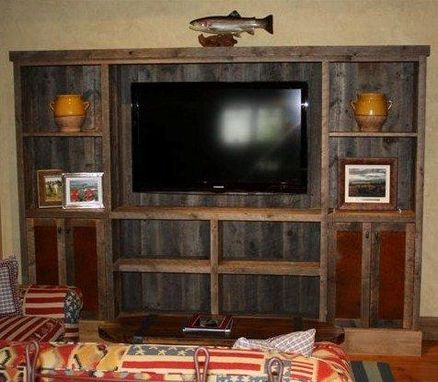 Custom Made Reclaimed Lumber Entertainment Center By Toms Custom Woodworking IncWine 2 Wood
