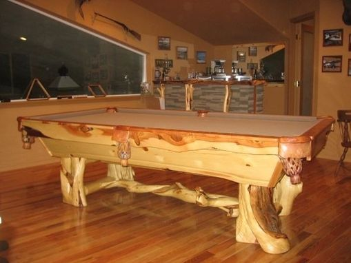 Custom Juniper Wood Pool Tables By Toby JS Llc