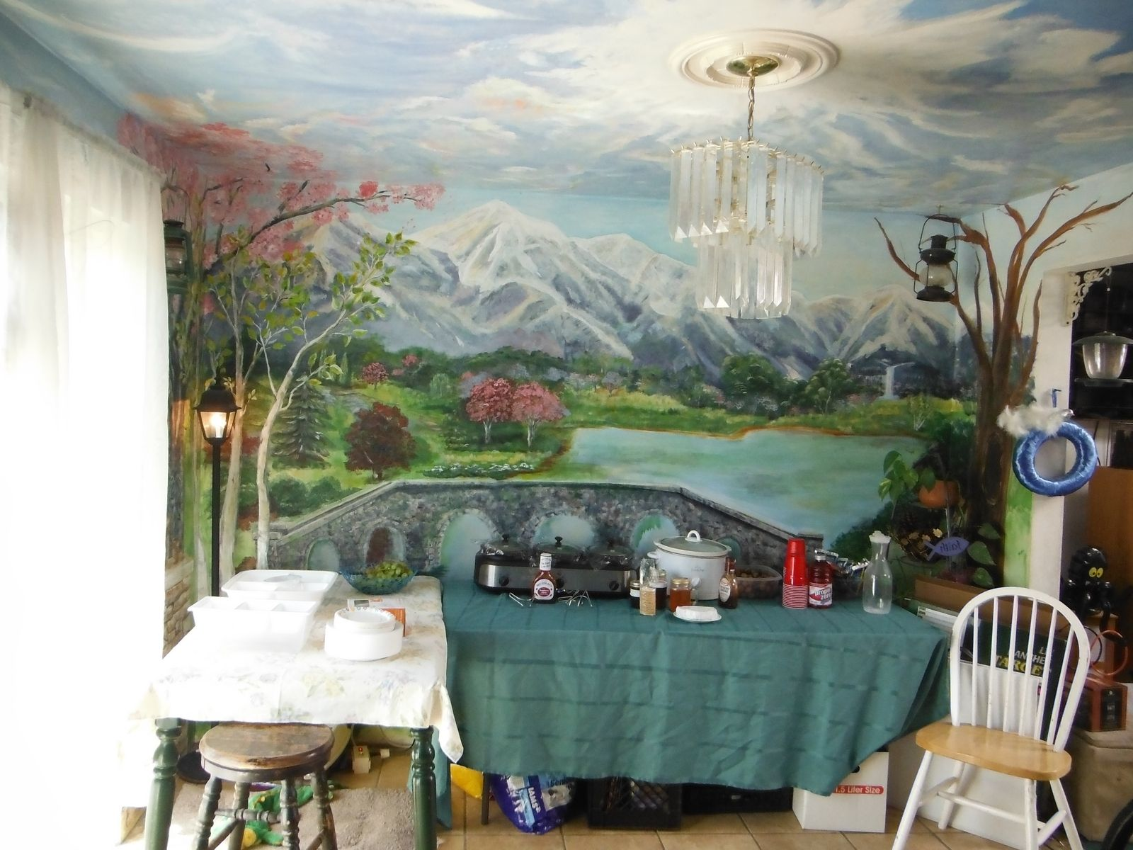 Hand Made Kitchen Dining Room Mural Floor To Ceiling By