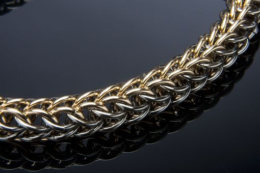 Hand Crafted Mens 14k Gold Amp Black Persian Weave