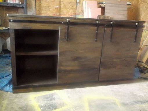 Buy Custom Made Rustic Reclaimed Wood Media Console With