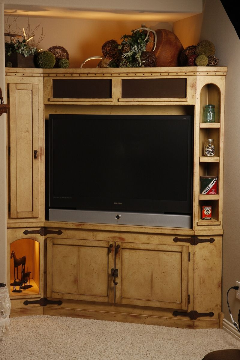 Hand Made Rustic Entertainment Center By Studio Wetz